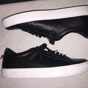 GIVENCHY Black Calf Leather Street SNEAKERS Shoes